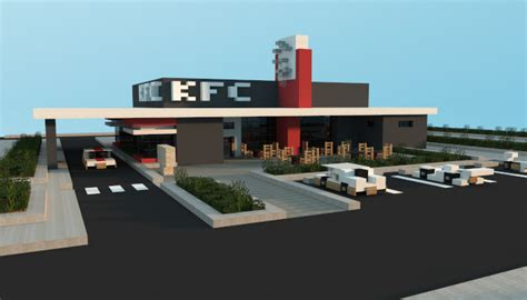 minecraft kfc restaurant fried chicken shop creation