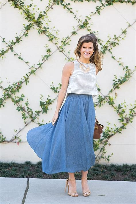 flowy midi skirt idea for date