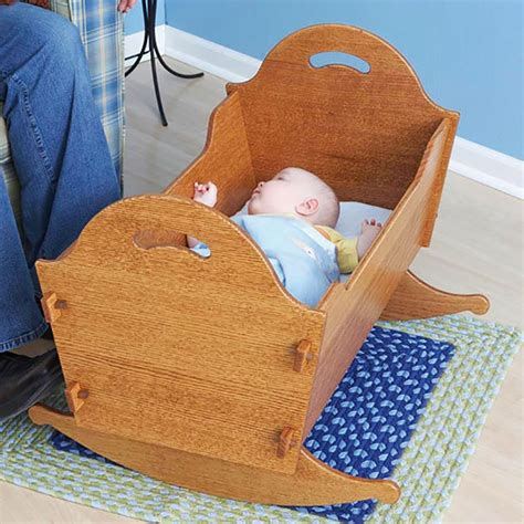 heirloom cradle  storage box woodworking plan  wood magazine