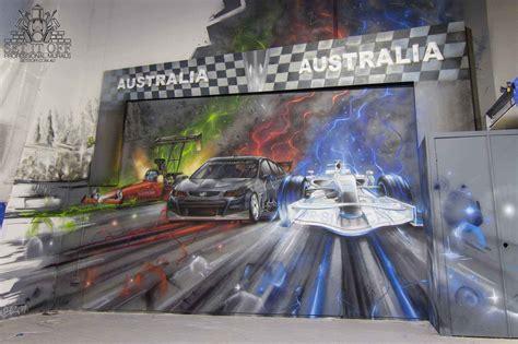 slot car graffiti interior street artist melbourne