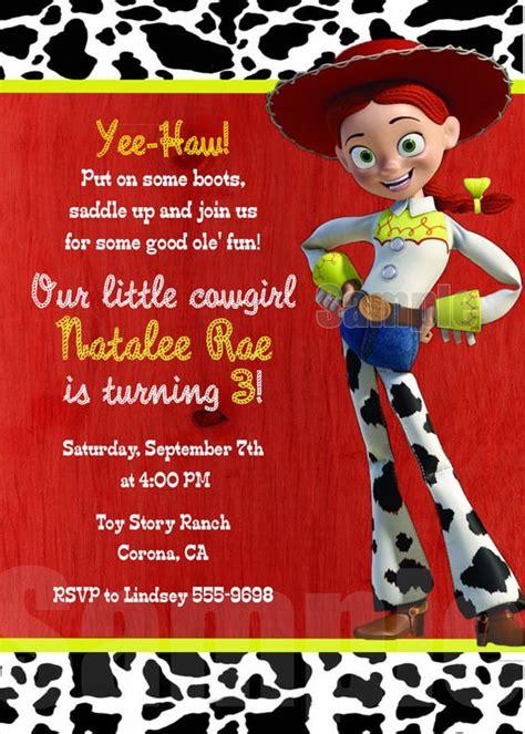 invitaciones de toy story jessie fiesta de jessie cumplea 241 os de toy story para ni 241 a