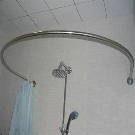 shower curtain round rod shower rod free shower rod ceiling support with shower