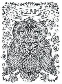 owl coloring pages for adults coloring page world dreamer owl portrait