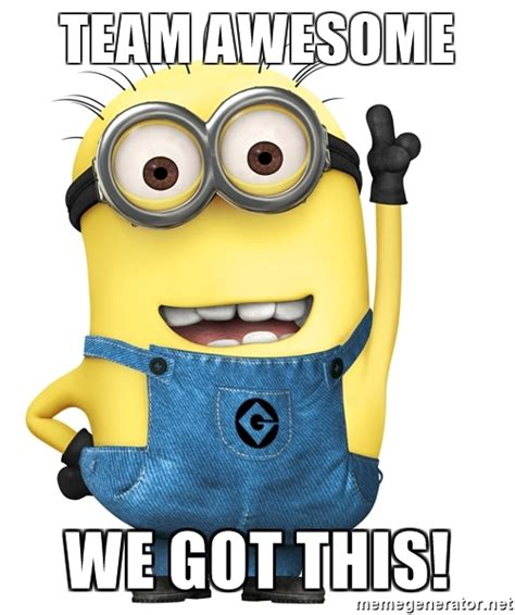 We Got This Meme - team awesome we got this despicable me minion meme