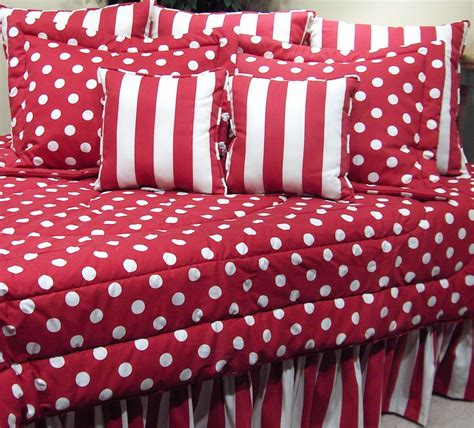 red and white polka dot comforter red and white polka dot by wilk textiles