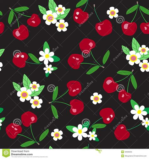 Seamless Cherry Pattern Royalty Free Stock Photo   Image
