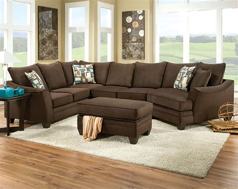 chocolate brown sectional couch chocolate brown sectional sofas living room found it at