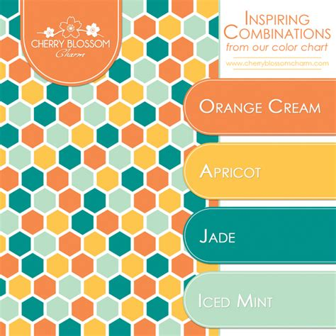 color combination for orange inspiring color combinations orange jade cherry