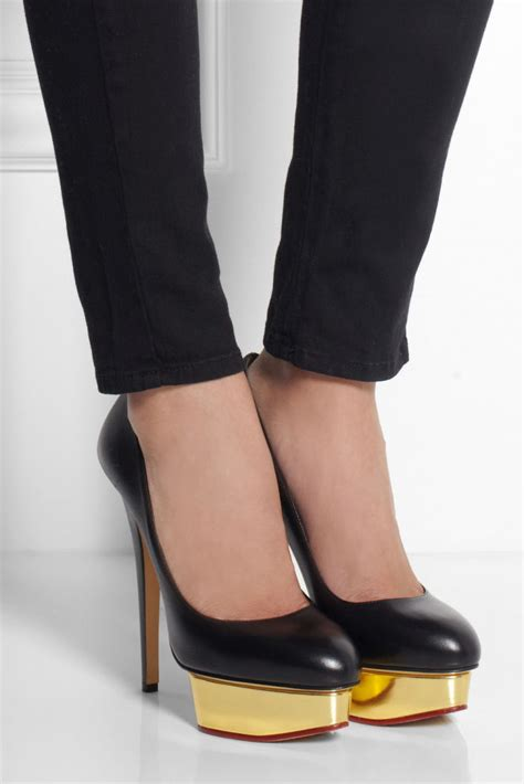 Olympia Platfrom High Heels olympia the dolly leather platform pumps shoes post