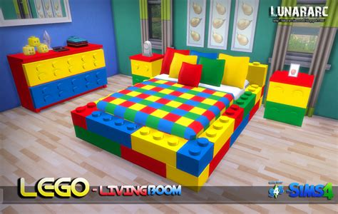 Lego Bedroom by Sims 4 Lego Bedroom Set By Lunararc