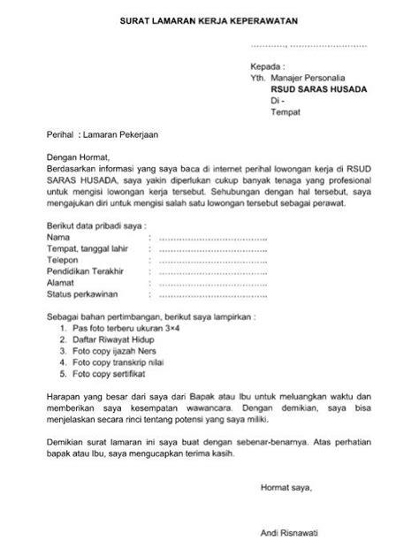 Contoh Surat Lamaran Cv Via Email - Contoh Surat
