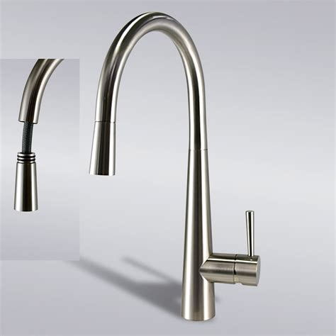 brushed nickel pull down kitchen sink faucet mixer tap