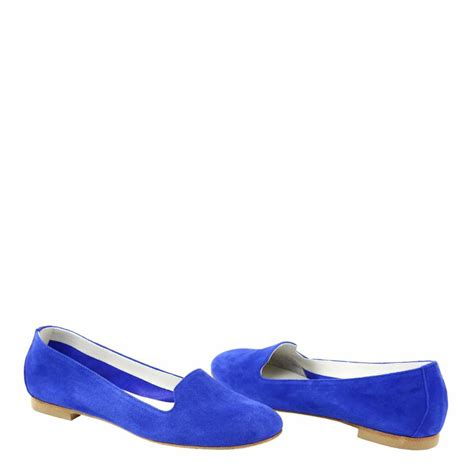 blue suede flat shoes cobalt blue suede slip on flat shoes brandalley