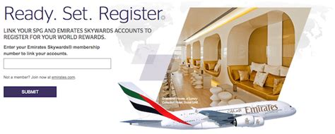 emirates loyalty program register for starwood emirates your world rewards one