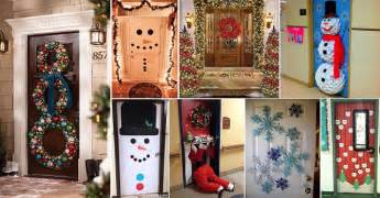 10 pretty christmas door decorations home design garden