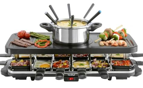 person raclette grill