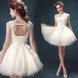 mini wedding dresses aliexpress buy fashion 2016 white gown