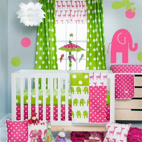 pink and green baby bedding cosy pink and lime green baby bedding cute home decor