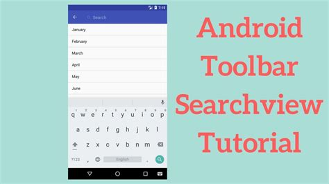android tutorial in youtube android toolbar searchview tutorial demo youtube