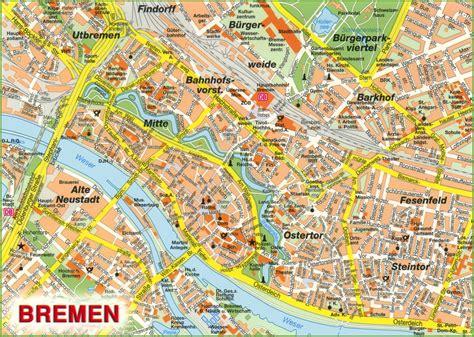 germany bremen map bremen sightseeing map