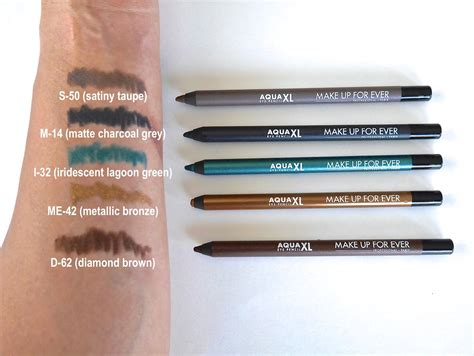 Eyeliner Make Pencil makeup forever aqua eye pencil swatches mugeek vidalondon