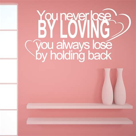 wall sticker quotes uk never by loving wall sticker quote wall chimp uk