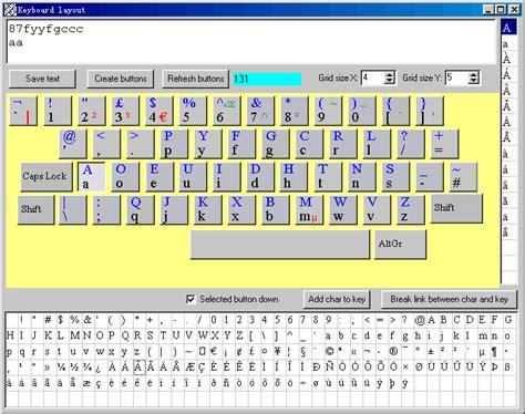 key layout meaning create on screen keyboard
