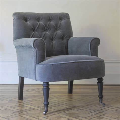 Button Back Armchair by Pimlico Button Back Velvet Armchair By Atkin And Thyme