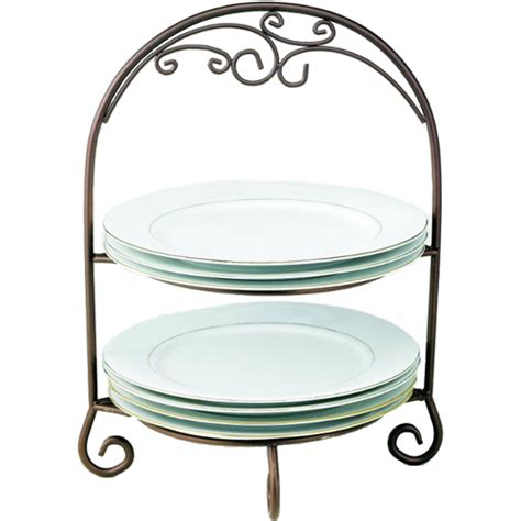 Tiered Plate Rack by Two Tier Wrought Iron Plate Rack In Serving Dishes
