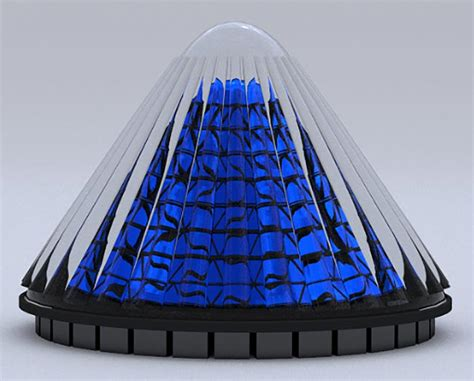 Laris Panel Sollar Cell 20 Wp cone shaped spinning solar cells generate 20 times more