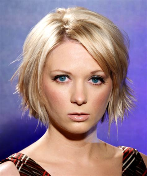 short bob with shorter layers at crown medium straight casual hairstyle