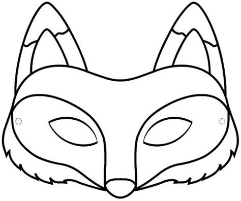 fox mask coloring page masque de renard 224 imprimer