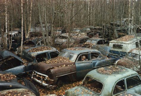 boat junk yard around me the swedish subculture hoarding more 1950s american cars