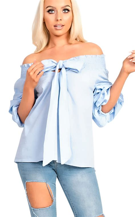Sleeve Tie Front T Shirt s ruffle sleeve wrap tie front shirt