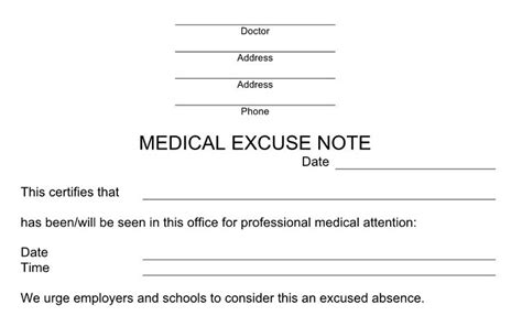 Excuse Letter About Check Up Learn How To Make A Doctors Note That Works