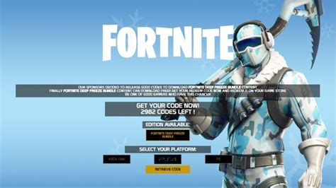 fortnite deep freeze bundle redeem code  allgamezhub