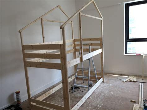 bunk bed hacks make an indoor playhouse bunk bed ikea mydal hack