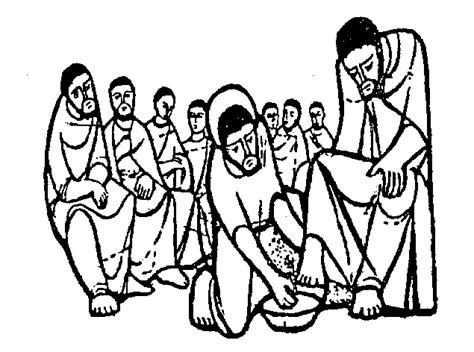 Free Mary Washes The Feet Of Jesus Coloring Pages Jesus Washes The Disciples Coloring Page