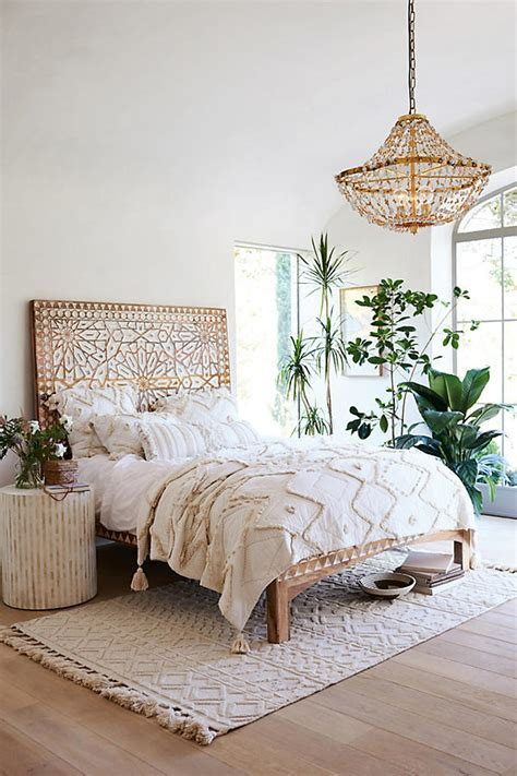 boho bed frame how to get the bohemian aesthetic in your bedroom simply
