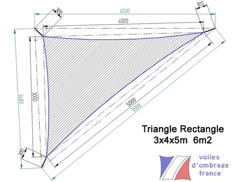 Voile D Ombrage Triangle Rectangle 7947 by Dimensions Voiles D Ombrage En 340g Qualit 233 Pro