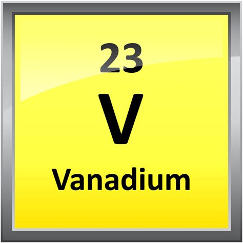 V Periodic Table by 023 Vanadium Science Notes And Projects