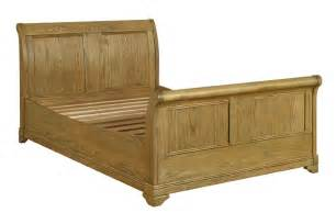 King Size Sleigh Bed Loire Oak King Size Sleigh Bed Oak Furniture Solutions
