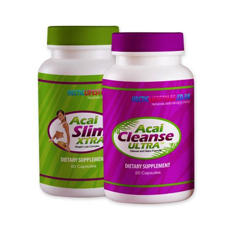 Acai Detox by Acai Berry Xtra And Acai Ultra Cleanse Combo