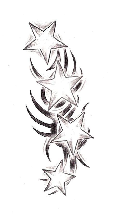 tribal with stars tattoo 66 tribal tattoos designs with meanings