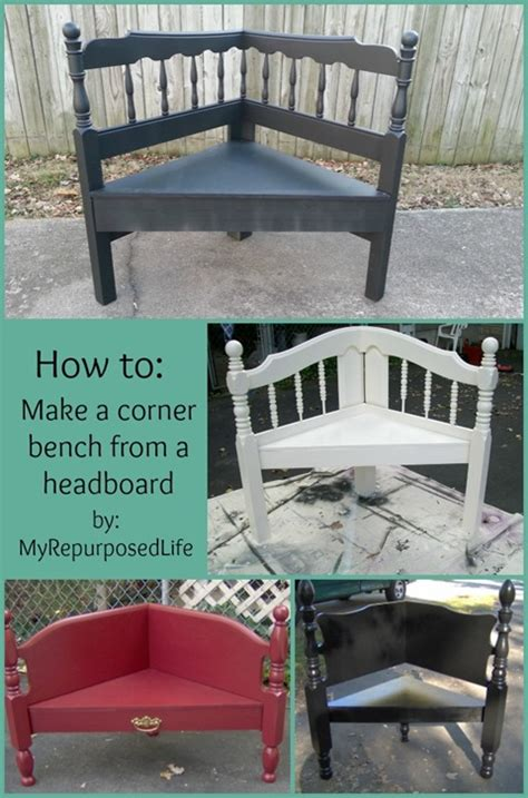 how to make a bench from a bed headboard corner bench my repurposed life 174