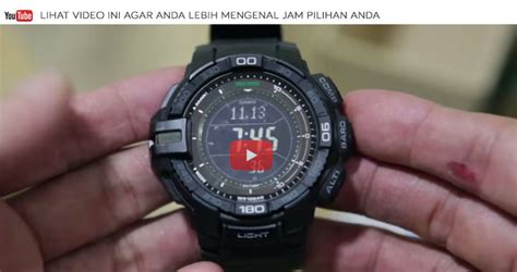 Jam Tangan Casio Pro Trek Prg 270 6a Tough Solar Original Casio Pro Trek Prg 270 6a Indowatch Co Id