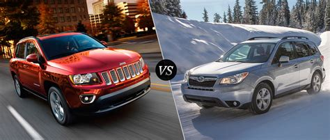 Jeep Compass Vs Jeep 2016 Jeep Compass Vs 2016 Subaru Forester