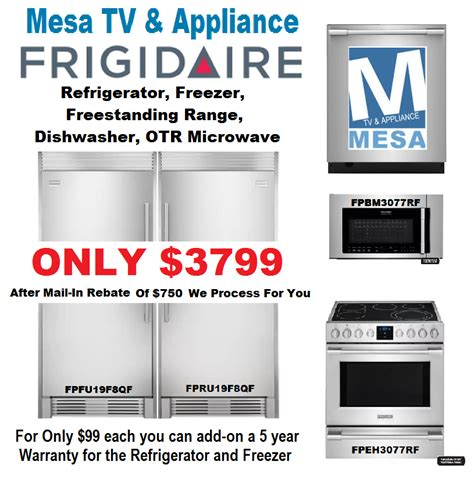 frigidaire professional kitchen appliance package frigidaire stainless steel appliance package mesa az