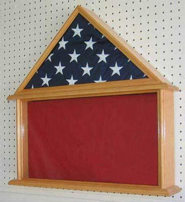Display To Hold Multiply Matted Pieces - 5 x9 5 flag shadow box
