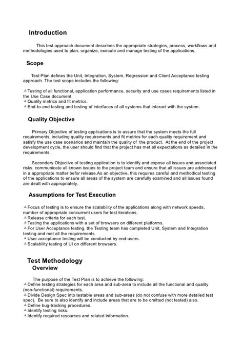 Test Plan System Integration Contract Template